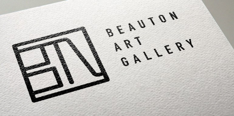 beauton_art_gallery_logo_design_visual-identity-design-poster-in-gallery-freelance-graphic-designer-and-artist-marie-brogger_featured