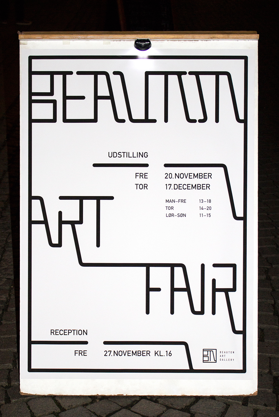 poster design beauton art gallery graphic designer and artist marie brogger